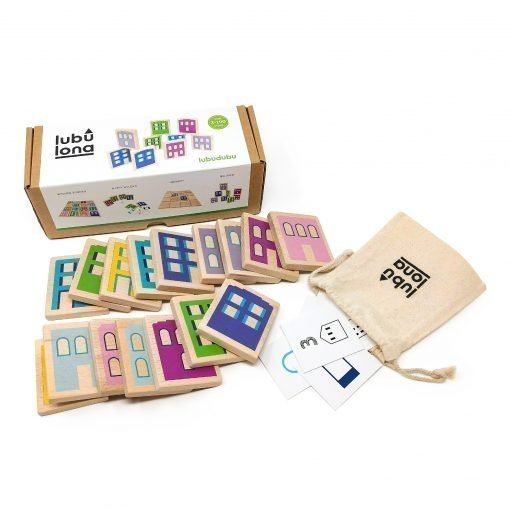 Lubudubu wooden game packaging