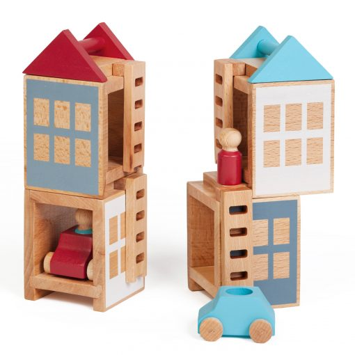 Lubu Town Pack Summerville construction wooden toy