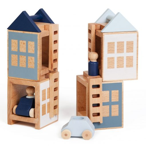 Lubu Town Pack Winterburg construction wooden toy