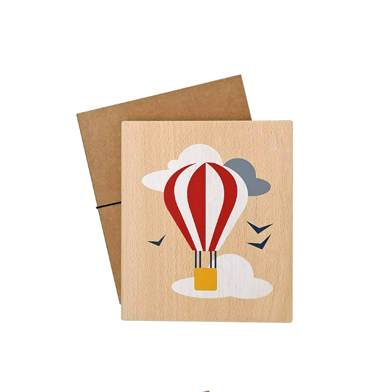 Illustration on wood (balloon)