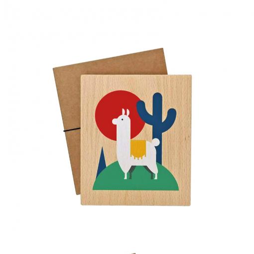 Lubulona lama print with packaging