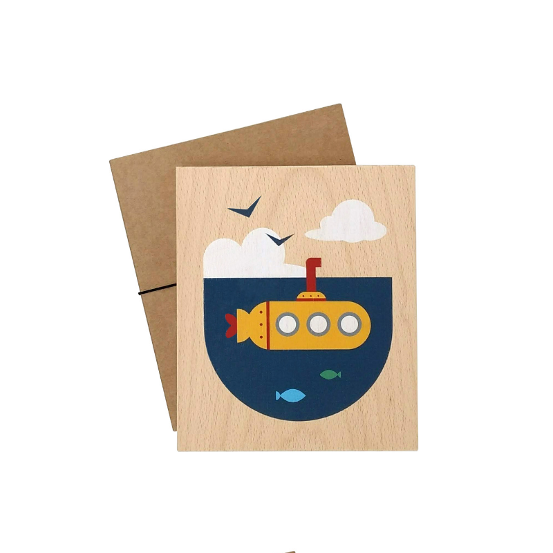 illustration on wood (submarine)