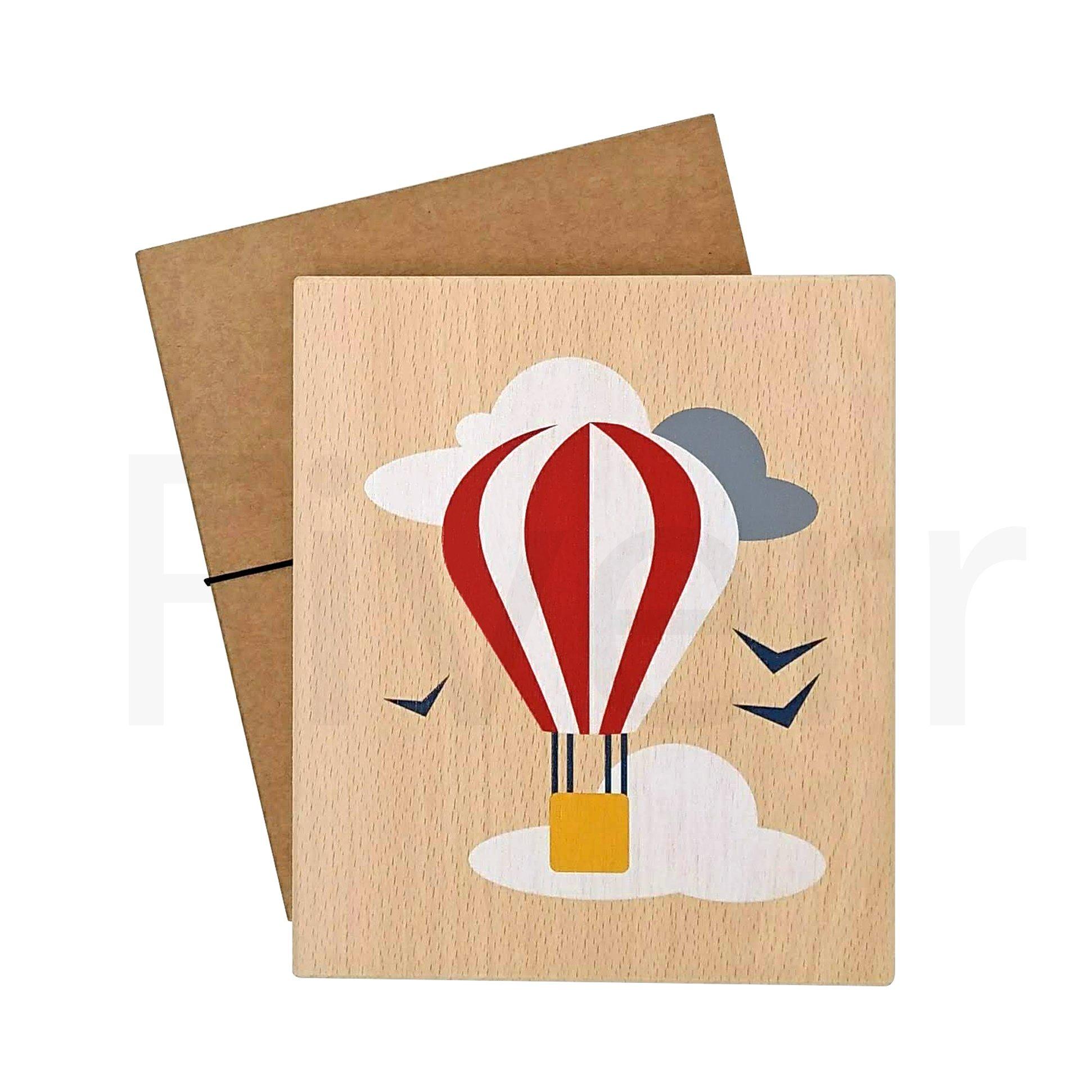 Illustration on wood (balloon)