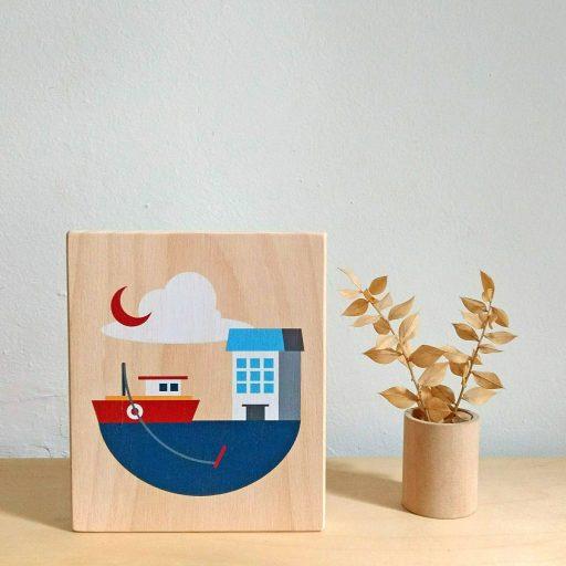 Lubulona boat print