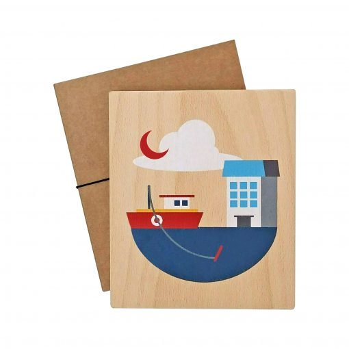 Lubulona boat print with packaging
