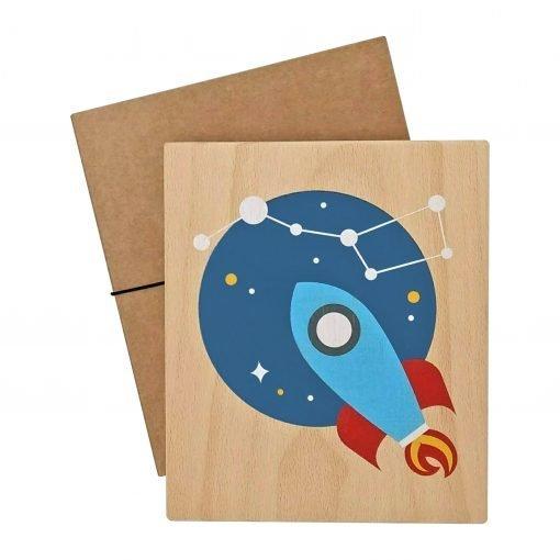 Lubulona rocket print with packaging