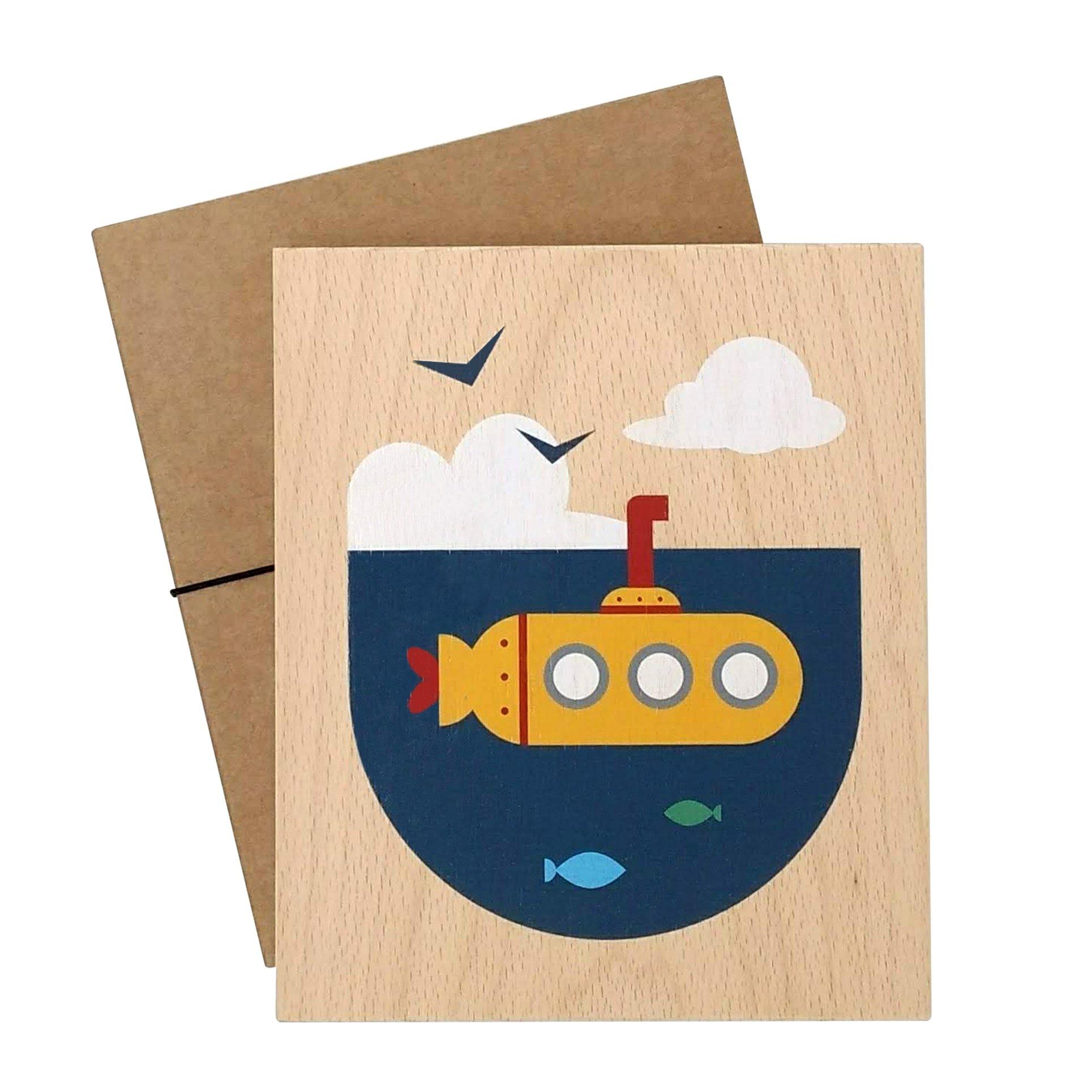 illustration on wood (submarine)