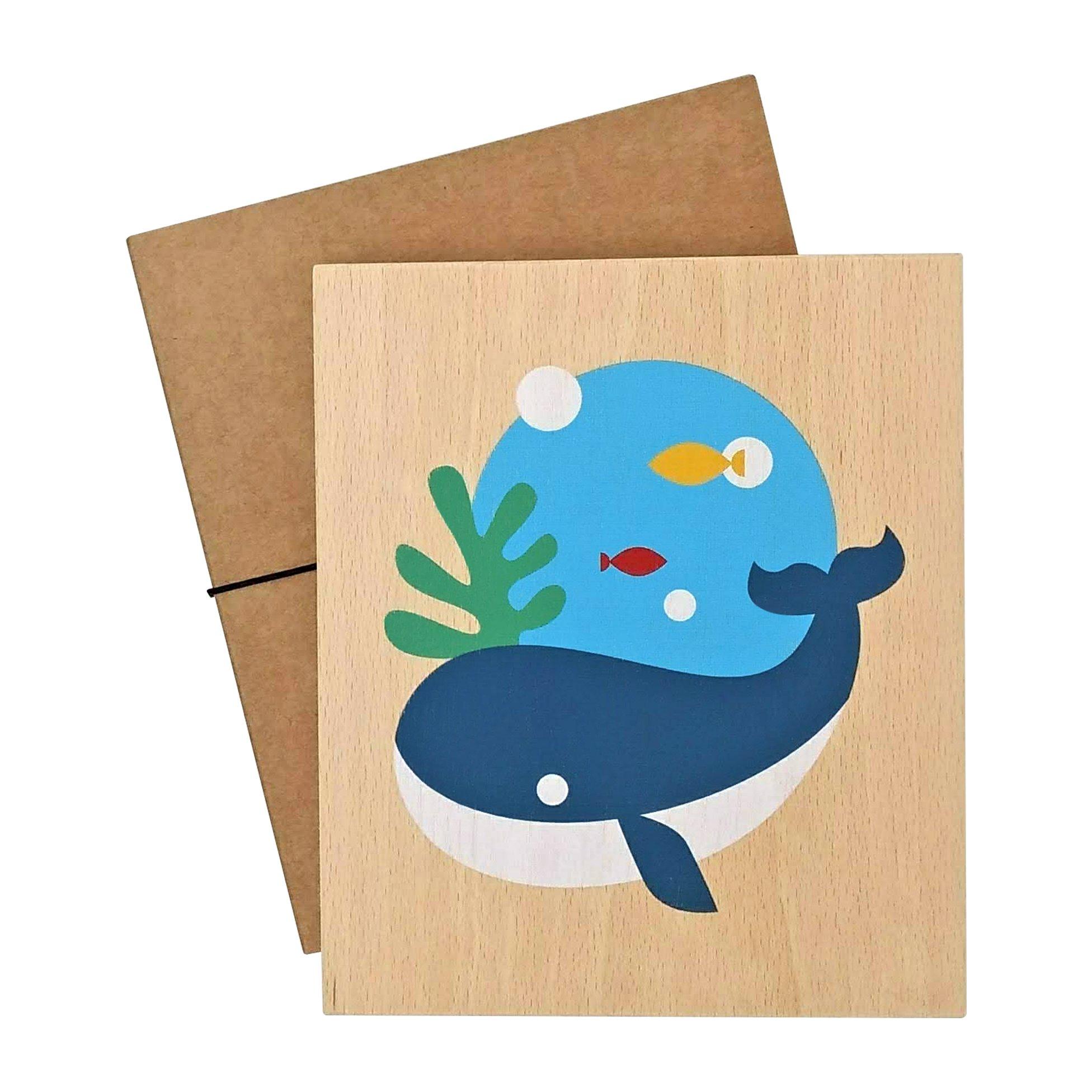 illustration on wood (whale)