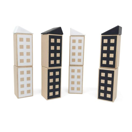 Happy Houses Black&White construction toy
