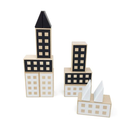 Happy Houses Black&White construction toy from 1+ years