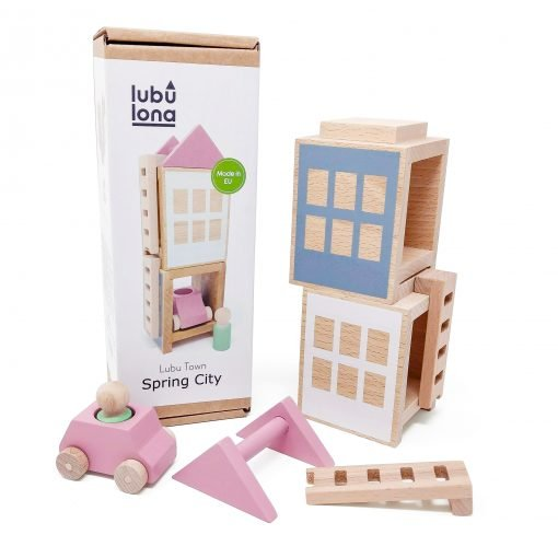 Lubulona Lubu Town Spring City construction toy