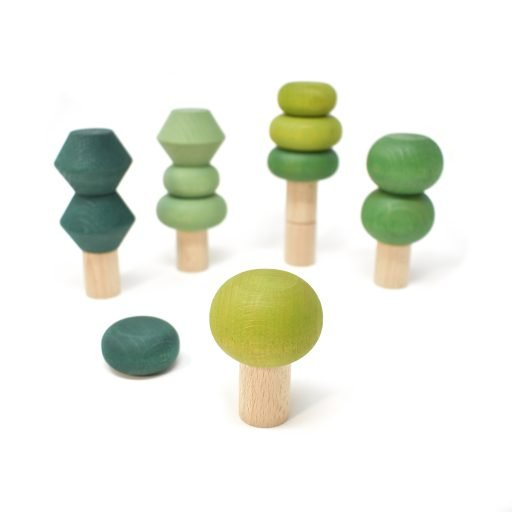 Wooden stacking trees - summer - Lubulona