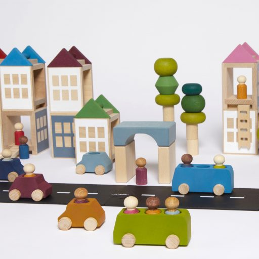 Lubulona Lubu Town city construction wooden toy