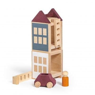 Lubulona Lubu Town Autumnvale Mini city construction wooden toy