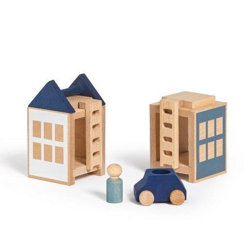 Lubulona Lubu Town Winterburg Mini wooden construction city