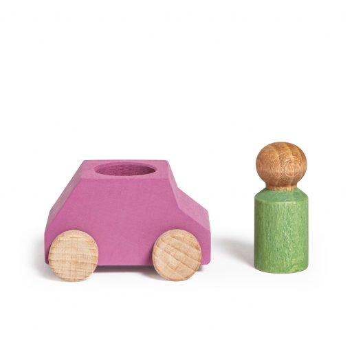 Lubulona Wooden Car Pink