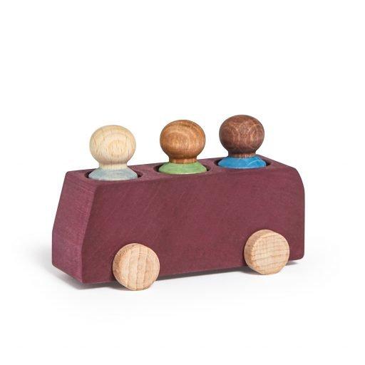 Lubulona Plum Wooden Bus