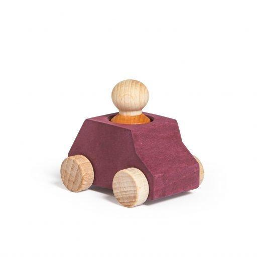 Lubulona Wooden Car Plum