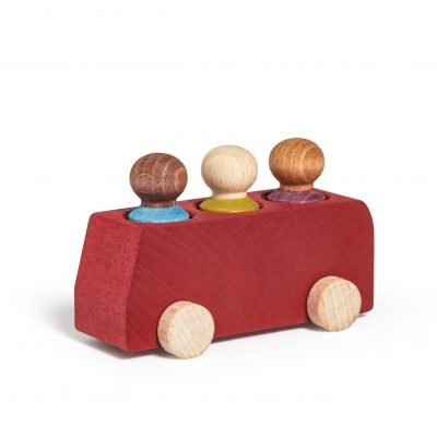 Lubulona Red Wooden Bus
