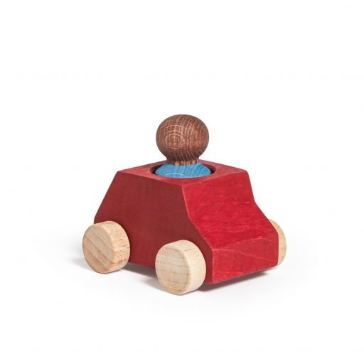 Lubulona Wooden Car Red with figure