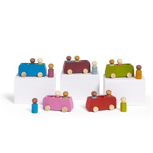 Lubulona Wooden Buses all colours