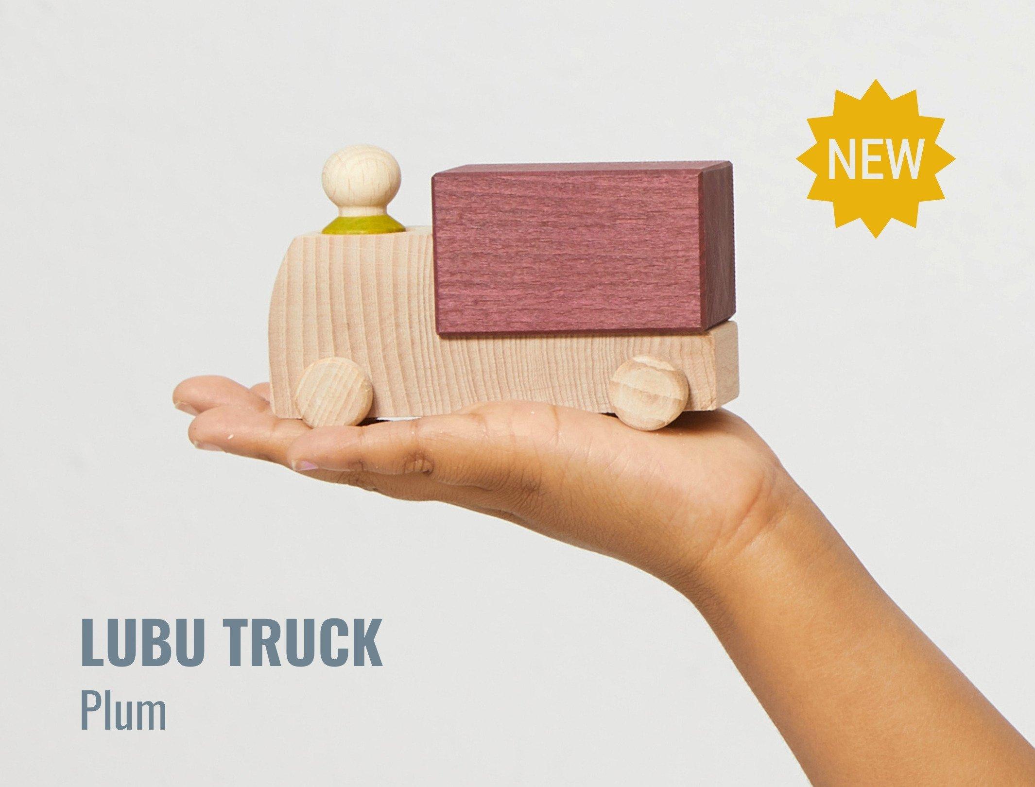 Lubulona Plum wooden truck